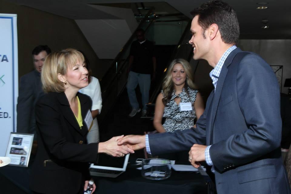 David Cummings and GATN President Karen Cashion
